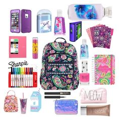 @AmiraisQUEEN's Back to school essentials! by amiraisqueen on Polyvore featuring polyvore, beauty, Lancôme, Urban Decay, Topshop, Forever 21, Vera Bradley, Lilly Pulitzer, Sharpie and Maybelline