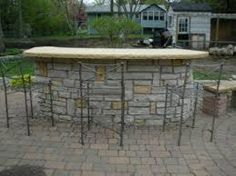 Image result for backyard stone bar