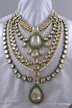 Spring Summer'15 Collection by Hazoorilal Legacy. Indian wedding jewelry #kundan #gold /