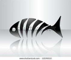 Skeletal Fish Drawings | Stylized Fish Skeleton Stock Vector 12036010 : Shutterstock