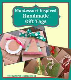 In this post, you will see how we used our Montessori Geometric Cabinet to make handmade gift tags for our holiday gifts.