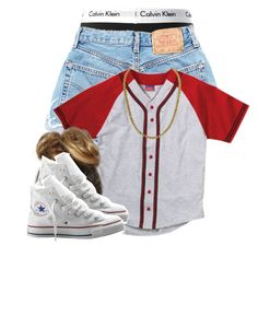"""""""Calvin K."""" by clickk-mee ❤ liked on Polyvore featuring Calvin Klein, Champion and Converse"""