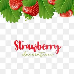 Strawberry and green leaf falling frame PNG and Vector Strawberry Leaves, Strawberry Flower, Green Leaf Background, Background Banner, Leaf Template, Frame Template, Planta Vascular, Joker Iphone Wallpaper, Strawberry Decorations