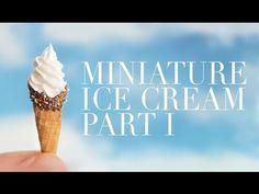 ICE CREAM I : polymer clay tutorial - YouTube
