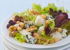 Salat med pærer, valnøtter og honningdressing   Vegetar   ICA