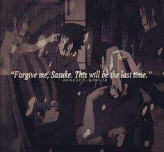 Itachi Uchiha and Sasuke Uchiha Itachi Uchiha, Naruto Shippuden, Boruto, Naruto Quotes, Naruto Team 7, Horoscopes, Anime Naruto, Sadness, Random Stuff