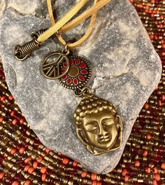 Excited to share this item from my #etsy shop: Buddha & Peace Sign Necklace. Women's Jewelry. Boho Chic. Hippie. Zen. Yoga. Spiritual #no #unisexadults #bohohippie #bronze #people #peacesignnecklace #buddhanecklace #buddhahead #peacesign #buddha #buddhanecklace Buddha Peace, Hippie Boho, Bohemian, Peace Sign Necklace, Zen Yoga, Women's Jewelry, Boho Chic, Spiritual, Bronze