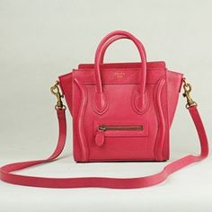 Celine Boston Pink Leather Bags   BL