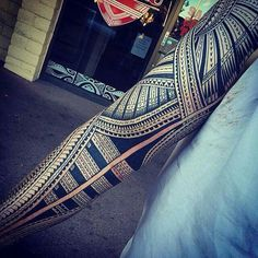 Polynesian Sleeve Tattoo by Samoan Mike