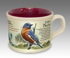 Eastern Bluebird 16-oz. Stoneware Soup Mug For $11.99