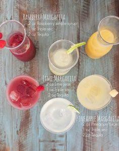 How to make a margarita bar - 3 types of margaritas