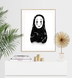 Celestial No Face Luxury Pen & Ink Illustration Print - or Luxury Pens, Ink Illustrations, A5, I Shop, Tapestry, Celestial, Manga, Unique Jewelry, Handmade Gifts
