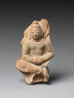Seated Buddha,Khotan Kingdom period  6th-7th century  China Culture,Xinjiang Autonomus Region
