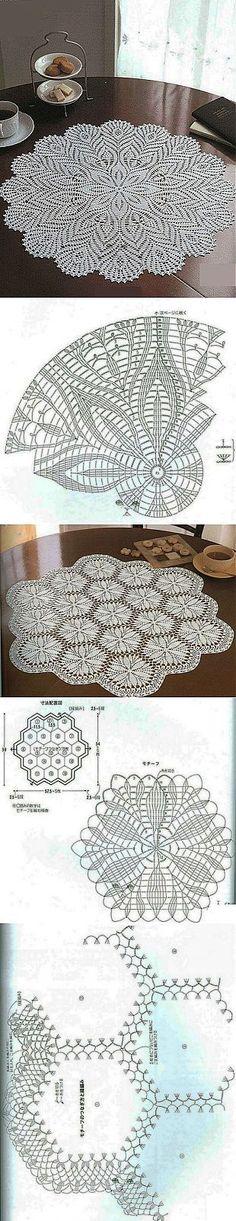 Схемы вязания салфеток                                                                                                                                                     More