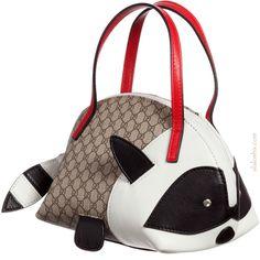 Girls brown 'GG' logo print raccoon handbag by Gucci New Fashion, Kids Fashion, Racoon, Mini Me, Baby Girl Fashion, Leather Handle, New Trends, Cute Kids, White Leather