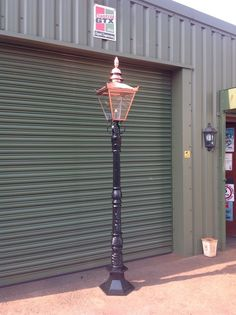 victorian cast iron lamp post and copper top