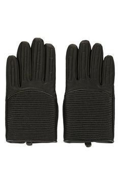 Topshop Padded Leather Biker Gloves available at #Nordstrom