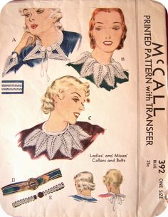 Fagoted Collars - 1930's