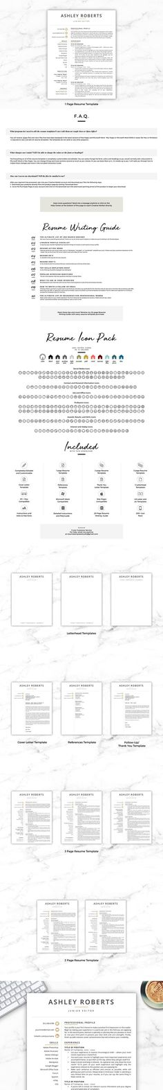 Creative Resume Template 4 Pages Modern Resume Templates