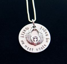 Infant loss jewelry necklaceUntil We Meet by PrettyByPriscilla