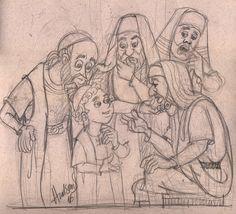 Depois de três dias o encontraram no templo, sentado entre os mestres, ouvindo-os e fazendo-lhes perguntas. Lucas 2:46