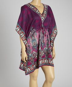 Take a look at this Purple Paisley Dolman Tunic - Plus by Life and Style Fashions on #zulily today!