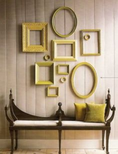 picture frame collage  For the hallway @Scott Doorley David this would be so inexpensive and fun to do