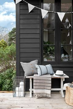 Scandi Style Outdoor Bunting, Outdoor Table Decor, Garden Bunting, Scandi Chic, Scandi Style, Scandi Garden, Outdoor Spaces, Outdoor Living, Modern Cottage