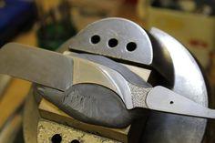 Inlay and sculpting work on a Bill Ellis custom straight razor.
