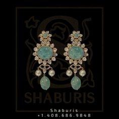 Stone Jewelry, Charm Jewelry, Diamond Jewelry, Silver Jewellery Indian, Silver Jewelry, 18k Gold, Silver Earrings, Plating, Handmade Items