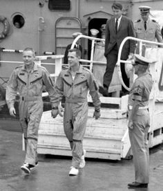 Neil Armstrong & other Gemini 8 fliers arrive on Okinawa in 1966