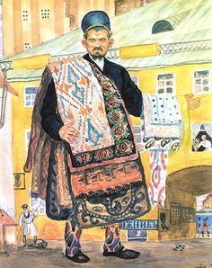 Painting by Boris Kustodiev