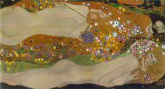 Gustav Klimt, 'Water Serpents II' (1904-07) || Austrian Symbolist, Art Nouveau, Vienna Secessionist(Prominent) (1862-1918)