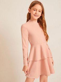 Girls Dresses Online, Kids Outfits Girls, Cute Girl Outfits, Little Girl Dresses, Pretty Outfits, Girls Fashion Clothes, Tween Fashion, Girl Fashion, Fashion Outfits