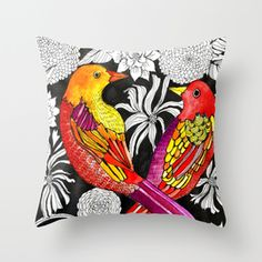Alisa Burke Store. Throw Pillow made from 100% spun polyester poplin fabric, a stylish statement that will liven up any room. Individually cut and sewn by...