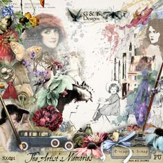 G & T DESIGNS THE ARTISTS MEMORIES is now available at E-scape and Scraps. Includes 111 Elements, 30 Papers , 10 Clusters 10 Frames and 12 Word Arts