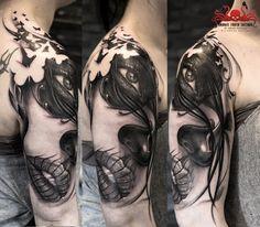 La Catrina Tattoo by Mehdi Rasouli broken tooth tattoos Tooth Tattoo, Catrina Tattoo, Chicano, Teeth, Black And Grey, Portrait, Tattoos, Google, La Catrina
