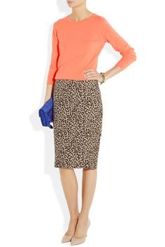 J.Crew | Long No. 2 leopard-print linen pencil skirt | NET-A-PORTER.COM