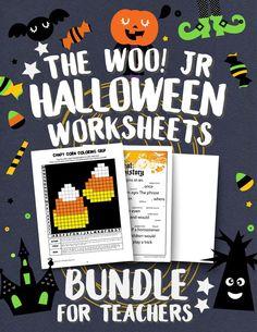 Halloween Worksheets Bundle for Teachers & Homeschoolers Halloween Worksheets, Teacher Worksheets, Halloween Activities, Preschool Worksheets, Classroom Activities, Halloween Themes, Activities For Kids, Brain Busters, 12th Maths
