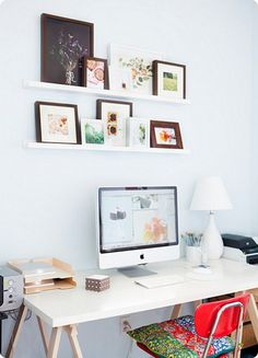Put some art and/or pictures up around your desk!