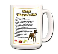 Boxer Property Laws Coffee Tea Mug 15 oz Funny * Be sure to check out this awesome product.  This link participates in Amazon Service LLC Associates Program, a program designed to let participant earn advertising fees by advertising and linking to Amazon.com.