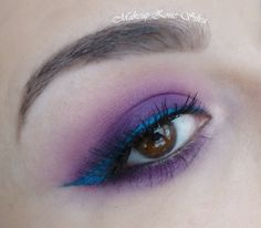 Get ready for spring with this POP of color by silvamakeup using the Makeup Geek eyeshadow Simply Marlena and Fame gel liner.
