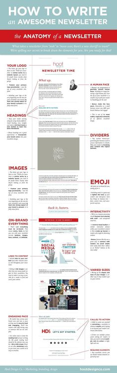 These are the key elements to writing a good newsletter.