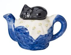 The 'Cat on Basket' Full Size Teapot by CartersofSuffolk on Etsy