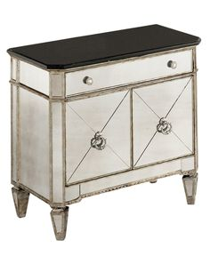 Marais Mirrored Small Nightstand Chest - Furniture - Macy's