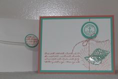 By The Tide stamp set on Crisp Cantaloupe and Coastal Cabana - new 2013-2015 In Colours. CASE from Michelle Clarke (a member of the monthly Cdn Demo Swap team I am part of) - I changed the colours and added crystal effects to the shell.