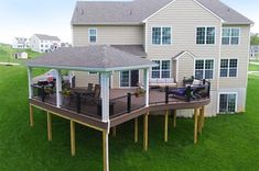 Pergola Ideas For Deck Refferal: 1256920691 Deck Plans, Pergola Plans, Pergola Ideas, Porch Ideas, Pergola Kits, Patio Ideas, Backyard Ideas, Patio Deck Designs, Patio Design