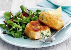 It's the prawns in these crispy cod fishcakes that make them into a little luxury
