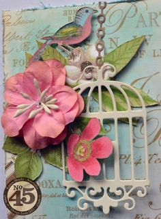 Love Karen's embellishments on her Botanical Tea layout #graphic45
