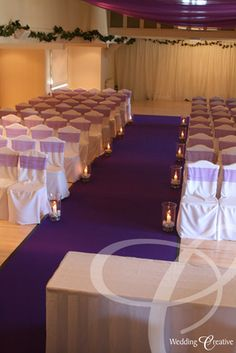 Purple Wedding Aisle Runner